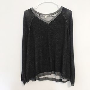Eileen Fisher Heathered V-Neck sweatshirt Small